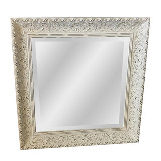 Shabby Chic Distressed White Mirror