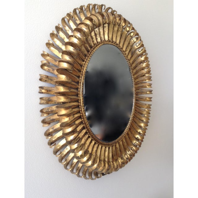 Italian Gilt Hollywood Regency Oval Mirror Attr. To S. Salvatore - Image 4 of 7