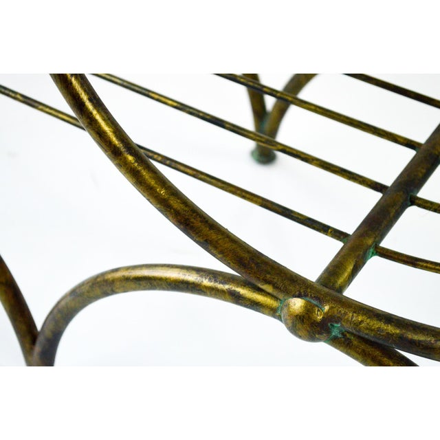 Hollywood Regency Italian Metal Bench, 1960's - Image 7 of 7