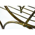 Image of Hollywood Regency Italian Metal Bench, 1960's