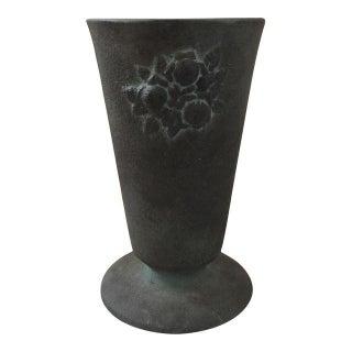 Gray Ceramic Flower Vase