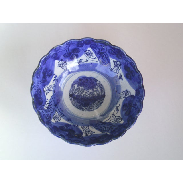 19th Century Blue & White Oriental Bowl - Image 3 of 9