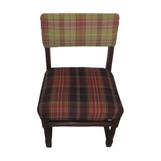 Antique Tartan English Accent Chair