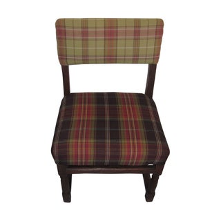 Antique Tartan English Accent Chair