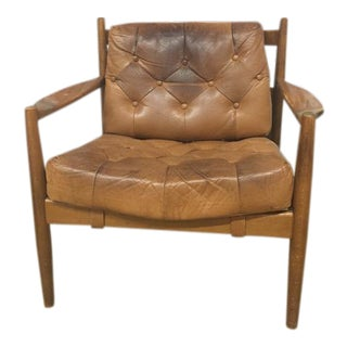 Scandinavian Modern Leather Armchair
