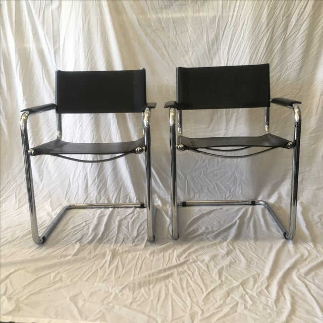 Cantilever Chairs by Marcel Breuer - Pair - Image 4 of 10