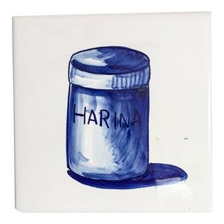 Vintage Spanish Delft Harina Tile