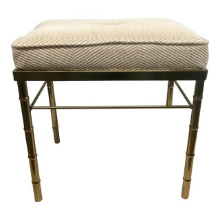 Brass Colored Faux Bamboo Stool