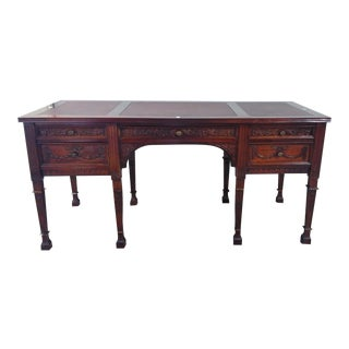 Hand Carved Partner Desk