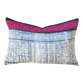 Hmong Fuchsia & Indigo Pillow Cover