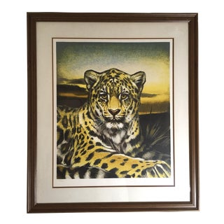 Huge Jaguar Lithograph by Martin Katon
