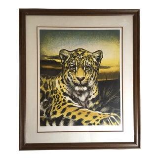 Huge Jaguar Lithograph by Martin Katon