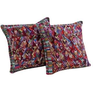 Guatemalan Textile Pillow Covers - A Pair