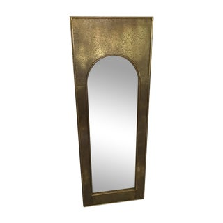 Vintage Mastercraft Brass Arch Rectangular Mirror