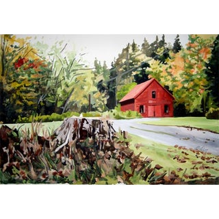 """Josh Moulton """"Vermont Fall"""" Giclee Print After a Painting"""