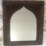 Image of Wooden Carved Arch Mirror