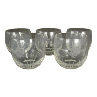 Roly Poly Etched Glasses - Set of 5