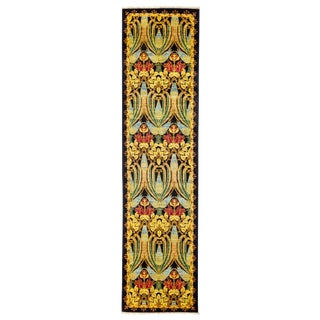 """Arts & Crafts Hand Knotted Runner - 2'6"""" X 9'8"""""""