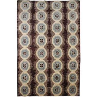 Aara Rugs Inc. Hand Knotted Ikat Rug - 9′1″ × 12′5″