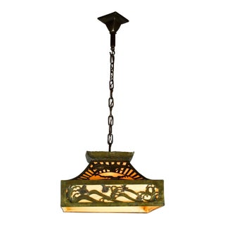 Asian Inspired Arts & Crafts Cut Out Fixture