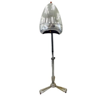Vintage Chrome Converted Newmatic Dryer Floor Lamp