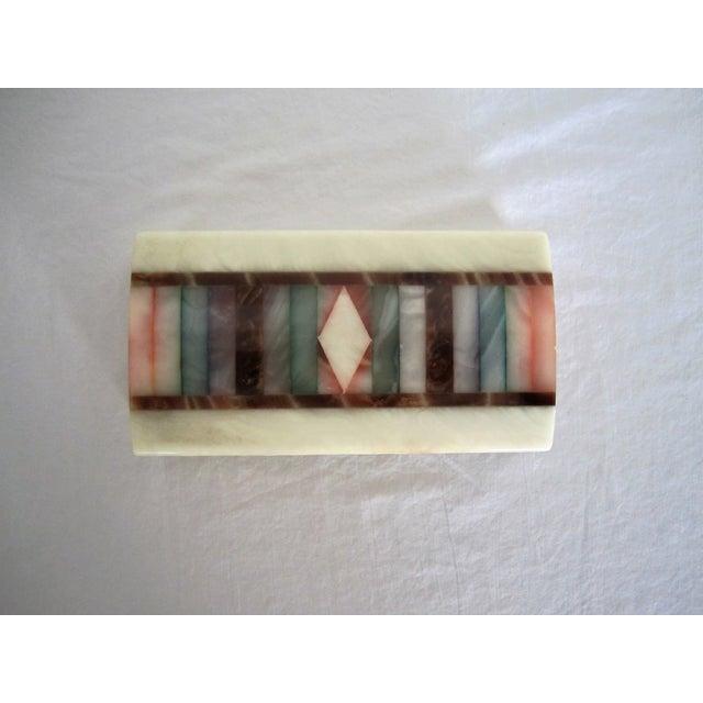 Image of Vintage Colorful Alabaster Box