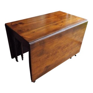 Large Cherry Drop Leaf Gate Leg Dining Table