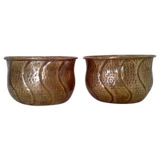 Vintage Indian Brass Planters/Cachepots