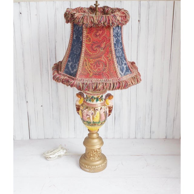 Vintage capodimonte porcelain table lamp chairish for Design table lamp giffy 17 7