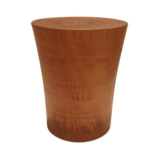 Natural Finish Mango Wood Accent Stool