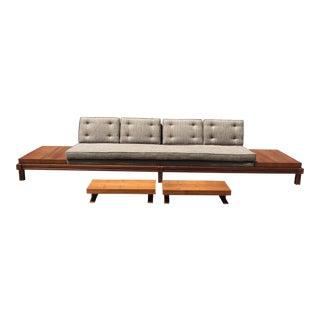 Martin Borenstein Mid-Century Modern Goldola Sofa