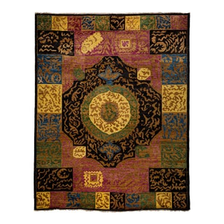 "Contemporary Hand Knotted Area Rug - 9'3"" X 11'9"""