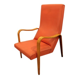 Thonet Mid-Century Danish Modern Bentwood Arm Lounge Chair