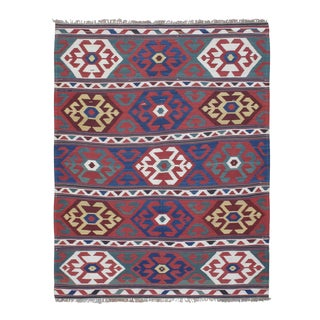 """Primary Colors,"" Antique Kazak Kilim"