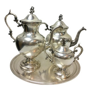 Hotel Silver-Plate Tea & Coffee Serving Set - Set of 4