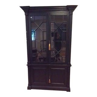 English Style Pine China Cabinet