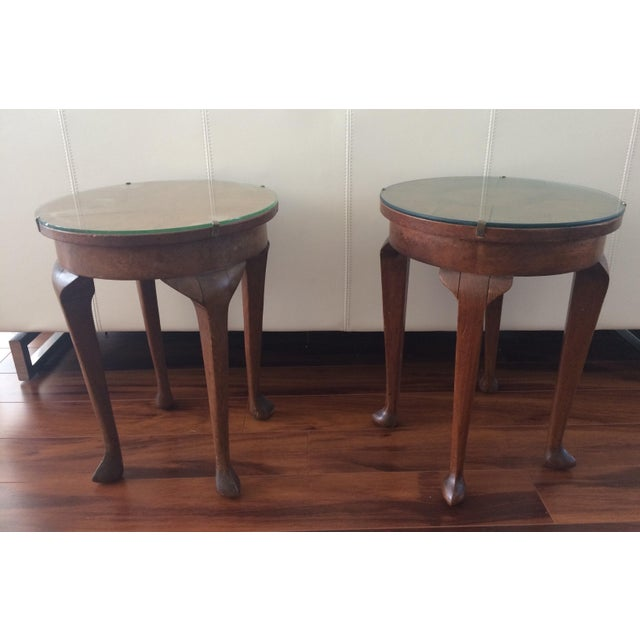 Vintage Inlaid Teak Accent Tables - A Pair - Image 2 of 7