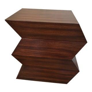 Mid-Century Modern Style Zig Zag Table
