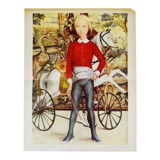 "Tsuguharu Foujita ""Little Cavalier"" Mid-Century Print"