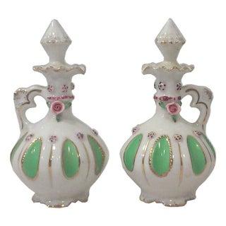 Japanese Porcelain Scent Bottles - a Pair