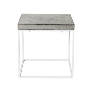 Concrete Top Steel Side Table
