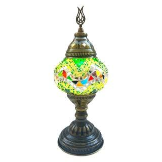 Turkish Handmade Green Mosaic Lamp