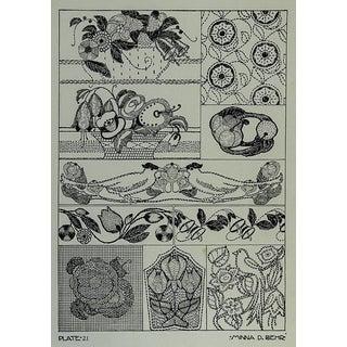 Circa 1920 Textile Design Lithograph