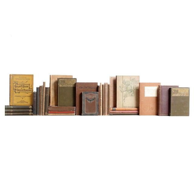 Image of Vintage Tan & Brown Mini Books - Set of 30