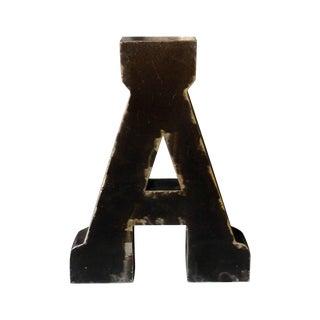 """Vintage Black Metal Letter """"A"""""""