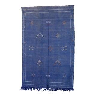 """Vintage Moroccan Cactus Silk Rug - 4'10"""" x 7'7"""""""