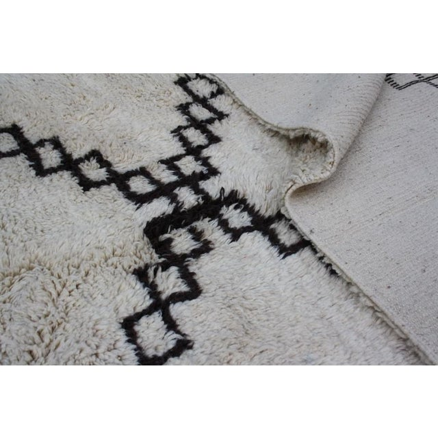 Vintage Moroccan Beni Ourain Rug - 10'6'' X 6'5'' - Image 4 of 4