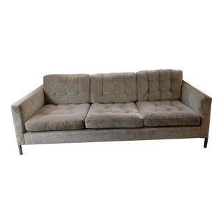 Florence Knoll Style Velvet Sofa