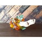 Image of Mid Century Orange Resin Decorative Grapes