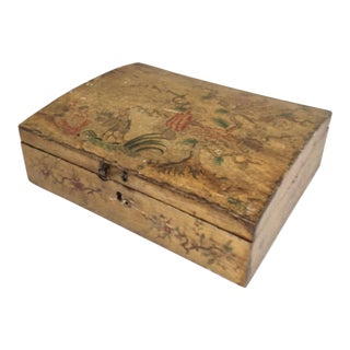 Yellow Chinoiserie Domed Box